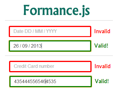 Formance.js – jQuery Library for Formatting and Validating Form Fields