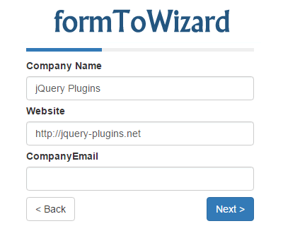 formToWizard – jQuery Plugin to Create Multi-Step Wizard