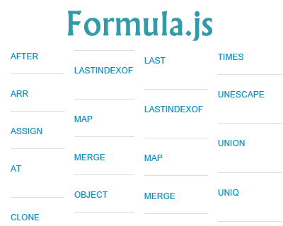 Formula.js – JavaScript Implementation of Most Microsoft Excel Formula Functions