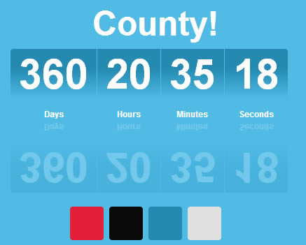 County – Free jQuery Count Down Plugin