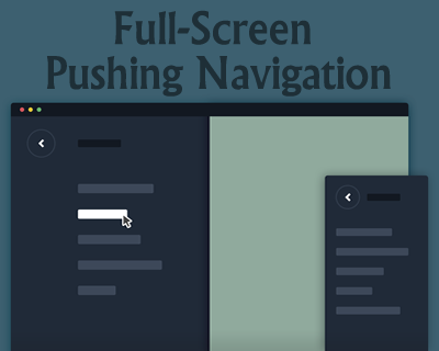 Full-Screen Pushing Navigation