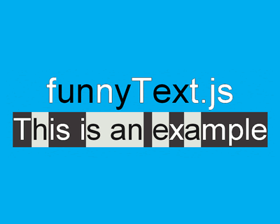 funnyText.js – Create Funny and Crazy Moving Texts