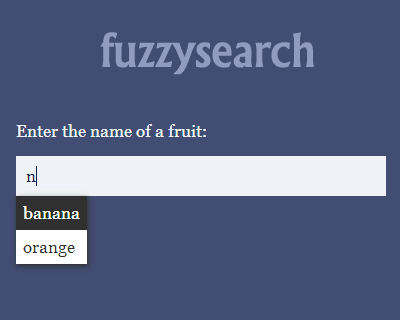 fuzzysearch – Tiny and Blazing-Fast Fuzzy Search in JavaScript
