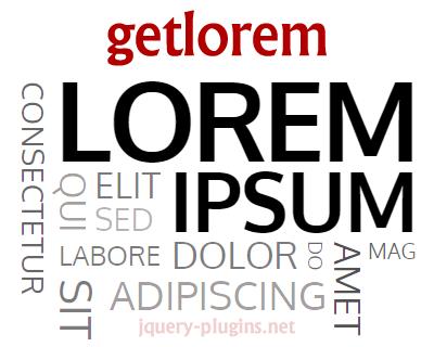 getlorem – Library to Generate Lorem Ipsum Text