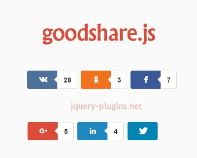 goodshare.js – jQuery Social Share Plugin