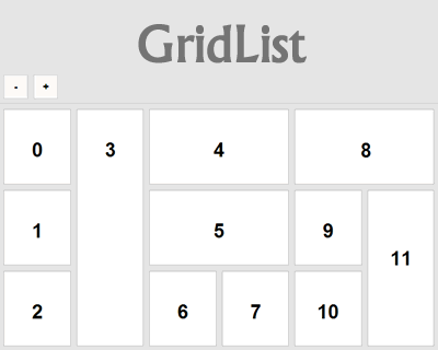 GridList – Drag & Drop Library for Resizable and Responsive Lists