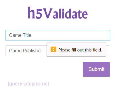 h5Validate – HTML5 Form Validation Plugin for jQuery