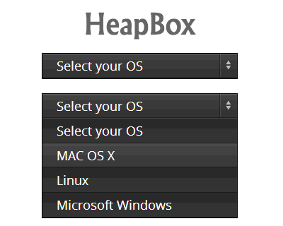 HeapBox – jQuery Selectbox Replacement Plugin