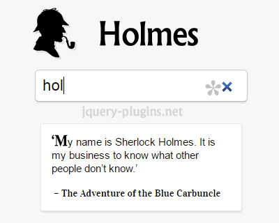 Holmes – Fast and Easy Searching Inside Page
