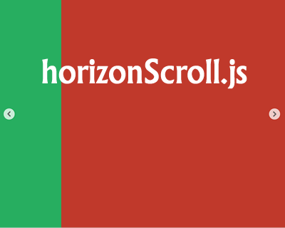 HorizonScroll.js – jQuery Plugin for Horizontal Scrolling Websites