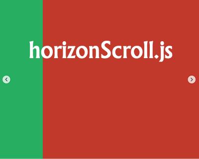 HorizonScroll.js – jQuery Plugin for Horizontal Scrolling Websites