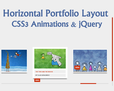 Horizontal Portfolio Layout with CSS3 Animations and jQuery