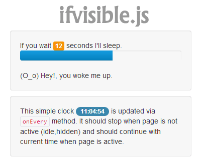 ifvisible.js – Checks If the Current Page Is Visible or Not
