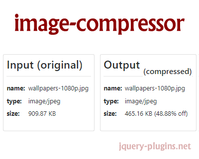 Image Compressor – Simple JavaScript Image Compressor