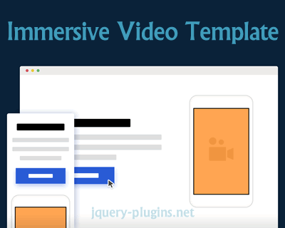 Immersive Video Template With jQuery