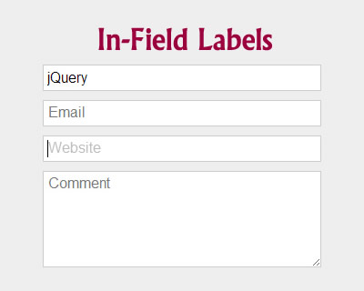 In-Field Labels jQuery Plugin