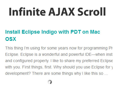 Infinite Ajax Scroll jQuery Plugin