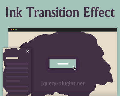 Ink Transition Effect with CSS and jQuery