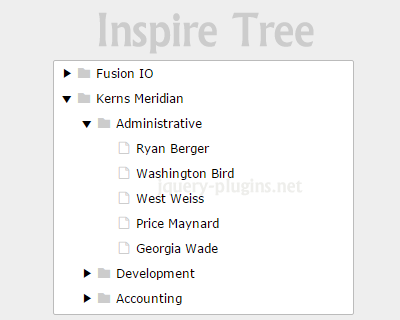 Inspire Tree – Javascript Tree UI Component