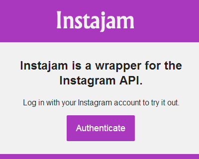 Instajam – JavaScript Wrapper for the Instagram API