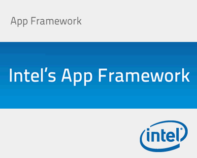 Intel's App Framework UI Plugin