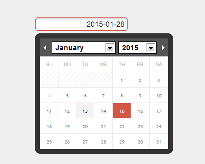 Ion.Calendar – jQuery Calendar and Datepicker