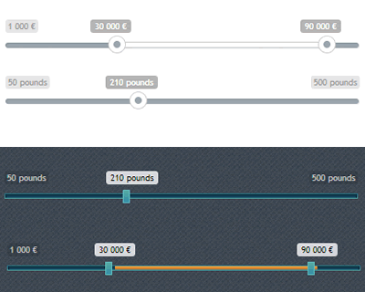 Ion.Range Slider – jQuery Range Slider with Skin Support