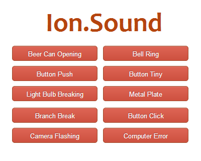 Ion.Sound – jQuery Plugin for Playing Sounds