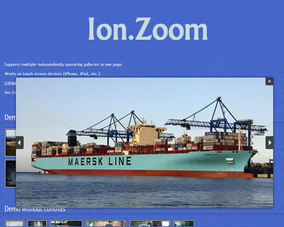 Ion.Zoom – Image Zoom Lightbox jQuery Plugin