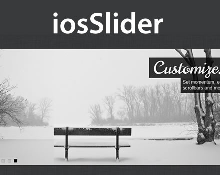 iosSlider – Touch Enabled jQuery Horizontal Slider Plugin