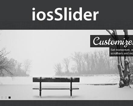 iosSlider – Touch Enabled jQuery Horizontal Slider Plugin