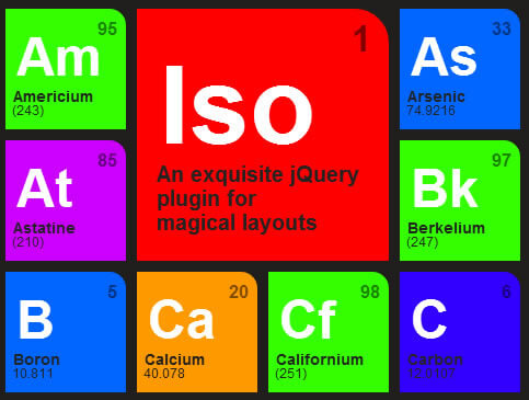 Isotope – Exquisite jQuery Plugin for Magical Layouts