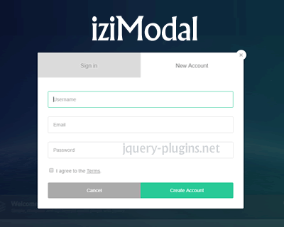 iziModal – Responsive and Fexible Modal Plugin with jQuery