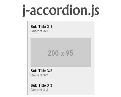 j-accordion.js – jQuery Accordion Plugin