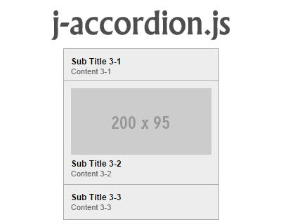j-accordion.js – jQuery Accordion Plugin
