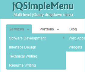 jQSimpleMenu - Multi Level Hierarchical jQuery Menu