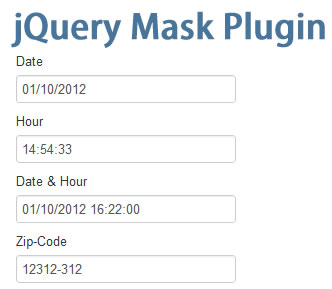jQuery Mask Plugin
