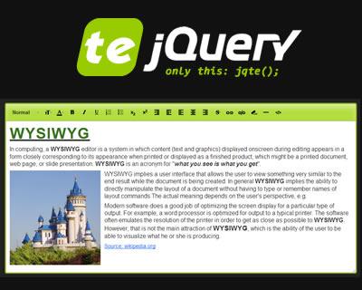 jQuery TE - jQuery Text Editor Plugin