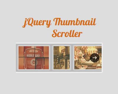 jQuery Thumbnail Scroller Plugin