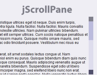 jScrollPane - Styleable Scrollbars With jQuery and CSS