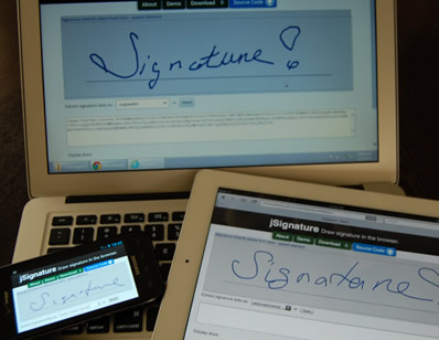 jSignature – jQuery Plugin for Web Signatures