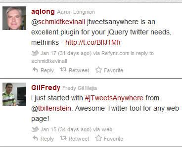 jTweetsAnywhere - jQuery Twitter Widget