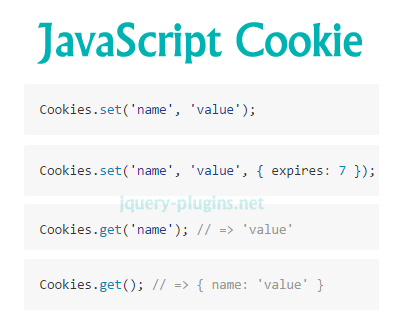 JavaScript Cookie – Lightweight JavaScript API for Handling Browser Cookies
