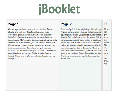 jBooklet – jQuery Plugin for Flipbook Layout