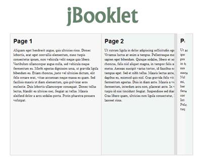 jBooklet – jQuery Plugin for Flipbook Layout