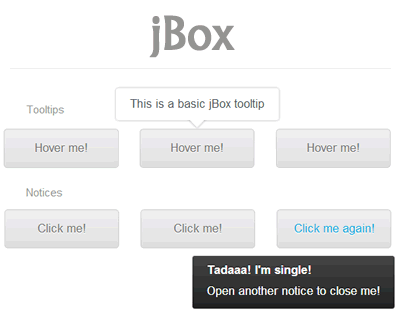jBox – jQuery Plugin for Popup Windows, Tooltips and Notices