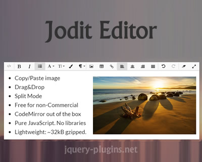 Jodit Editor – Functional WYSIWYG Editor with File Browser
