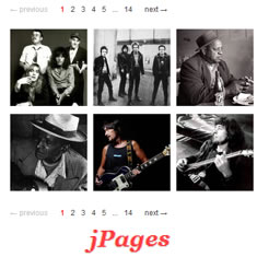 jPages - Client Side Pagination jQuery Plugin