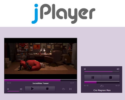 jPlayer - HTML5 Audio/Video for jQuery
