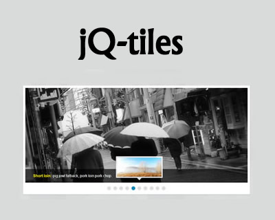 jq-tiles – Slider with CSS3 Effects